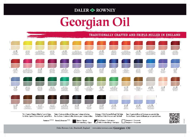 Georgian Oil colour chart